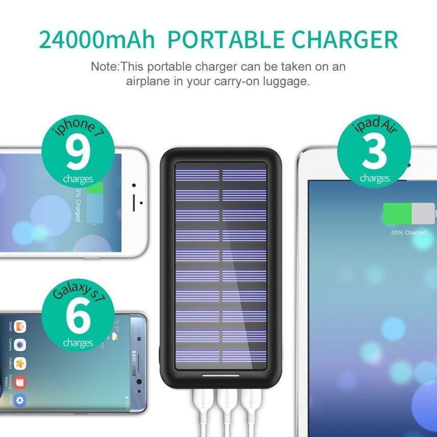 carga de 3 dispositivos simultáneos con bateria